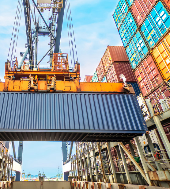 Image of a seafreight container